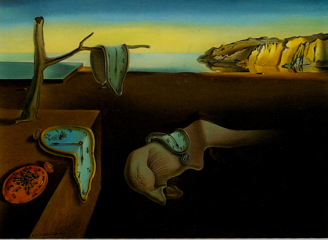 """Salvador Dalí, The Persistence of Memory, 1931, oil on canvas, 9 ½"""" x 13"""", Museum of Modern Art, New York. Attribution: Salvador Dali, CC by Koiart71 on Flickr, ND"""