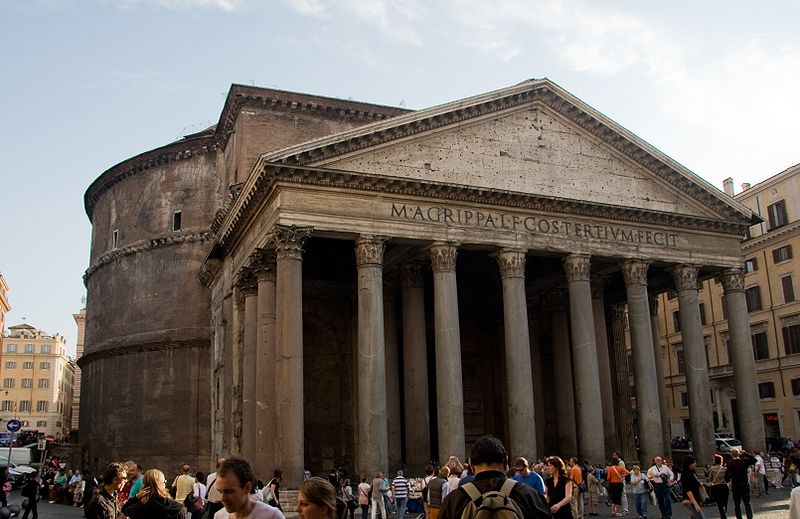 The Pantheon, Rome, 117-125, concrete and granite