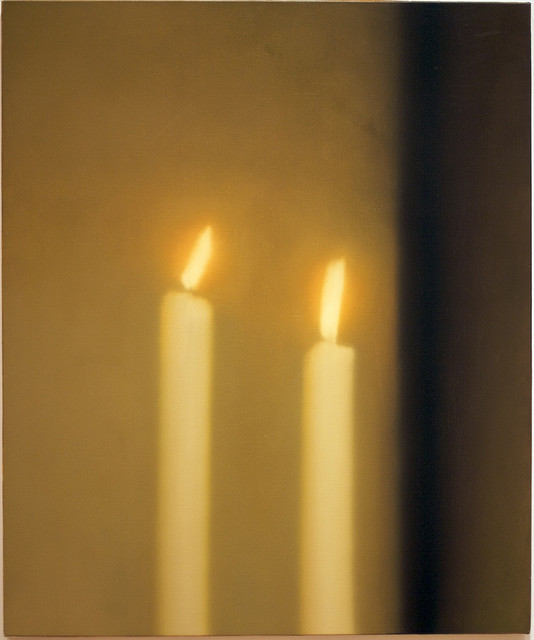 "Gerhard Richter, Two Candles, 1982, oil on canvas, 47¼"" x 39½"", Art Institute of Chicago, photo by rob golkosky, Creative Commons Attribution License via Flickr."