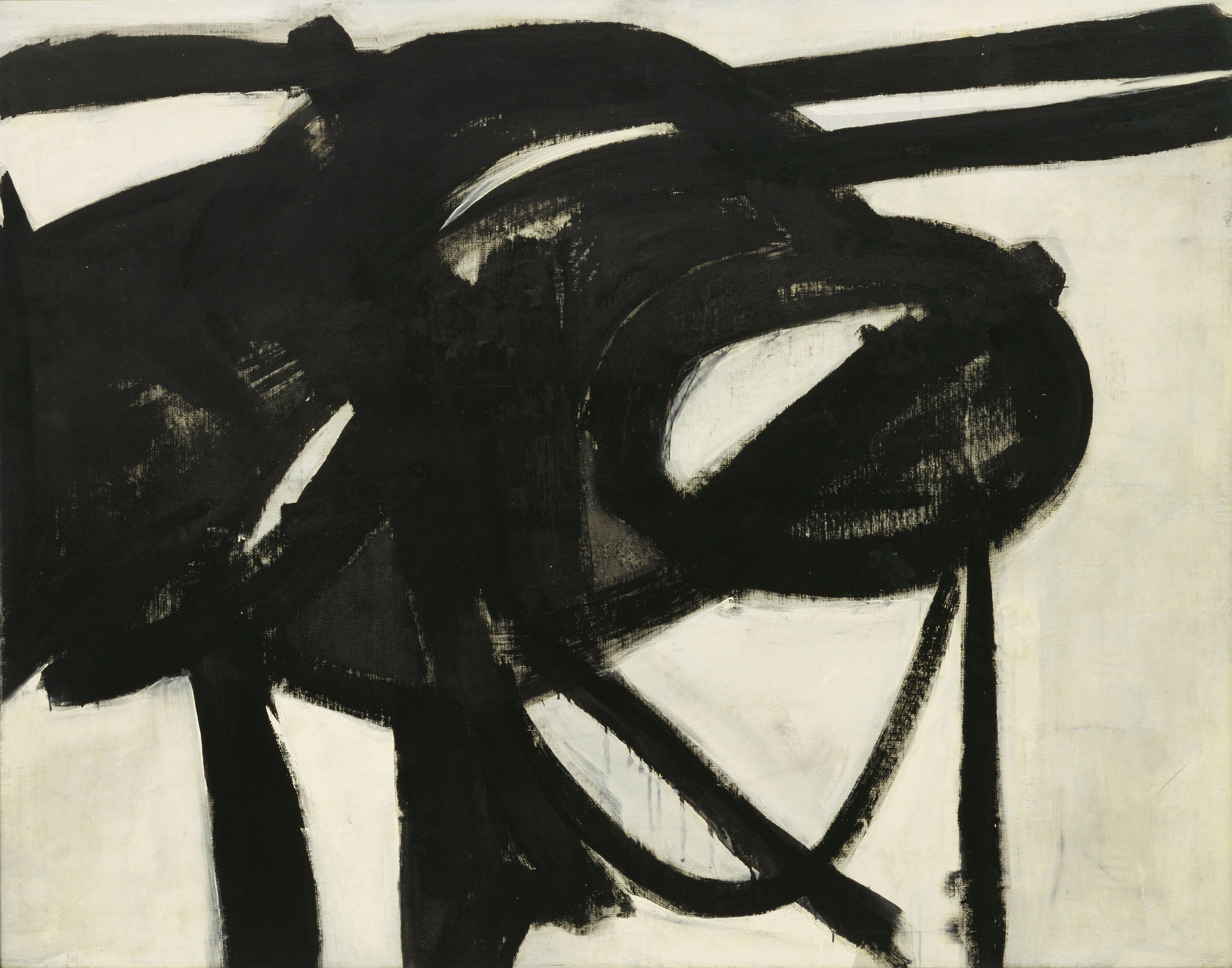 """Franz Kline, Chief, 1950, oil on canvas, 58 3/8"""" x 6' 1 1/2"""", Museum of Modern Art, New York, Photo via Wikimedia Commons, Creative Commons Attribution-Share Alike 3.0 Unported license."""