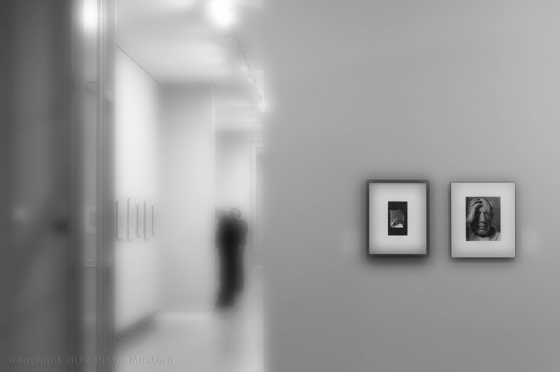 Exhibition with two photographs of Pablo Picasso by Arnold Newman, Photo by Pieter Musterd via Flickr, Creative Commons Attribution-NonCommercial-NoDerivs 2.0 Generic License.