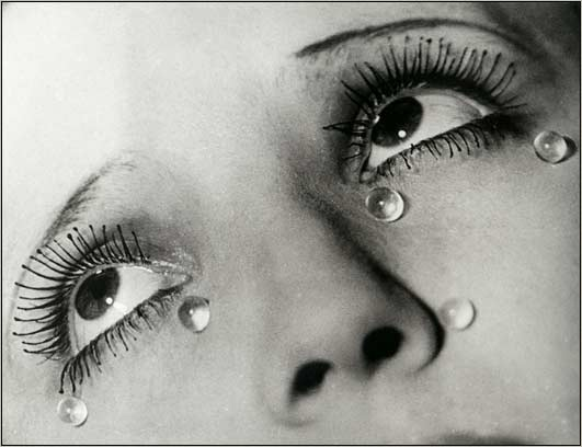 Man Ray, Tears, 1930-1932, gelatin silver print, 9 x 11 3/4 in., The J. Paul Getty Museum, Los Angeles, Photo by William Cromar via Flickr, Creative Commons Attribution-NonCommercial-ShareAlike 2.0 Generic License.