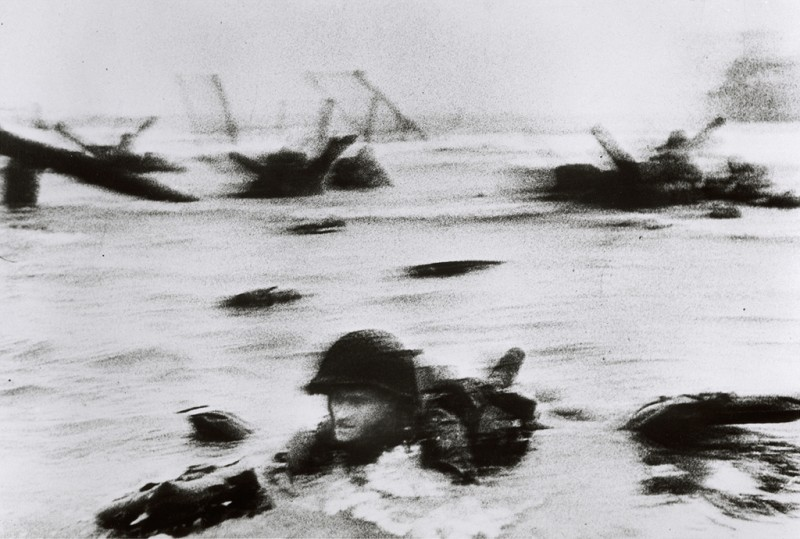 Robert Capa, D-Day: June 6, 1944: Allied Invasion of Normandy, Photo by Templar1307 via Flickr, Creative Commons Attribution-NonCommercial-NoDerivs 2.0 Generic License.