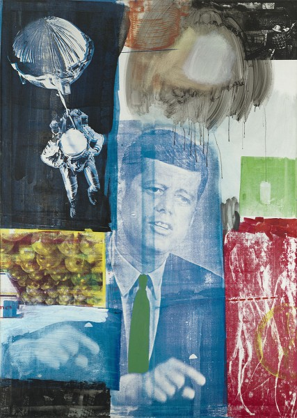 Robert Rauschenberg, Retroactive I, 1963, Oil and silkscreen ink on canvas, 84 x 60 in., Photo by Mary Ellen via Flickr, Creative Commons Attribution 2.0 License.