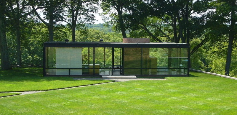 Philip Johnson, The Glass House, New Canaan, Connecticut, 1945 - 1949, Photo by Staib via Wikimedia Commons, Creative Commons Attribution-Share Alike 3.0 Unported license.