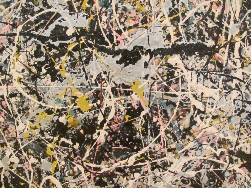 Jackson Pollock, Detail of Number 1, 1949, Museum of Contemporary Art, Los Angeles, Photo by rocor via Flickr, Creative Commons Attribution-NonCommercial 2.0 Generic License.