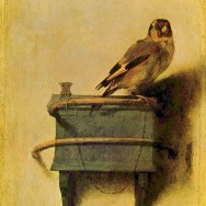 """Carel Fabritius, The Goldfinch, 1654, oil on panel, 13.2"""" x 9"""", Mauritshuis, The Hague, Photo by The Yorck Project: 10.000 Meisterwerke der Malerei via Wikimedia Commons, artwork in the Public Domain."""