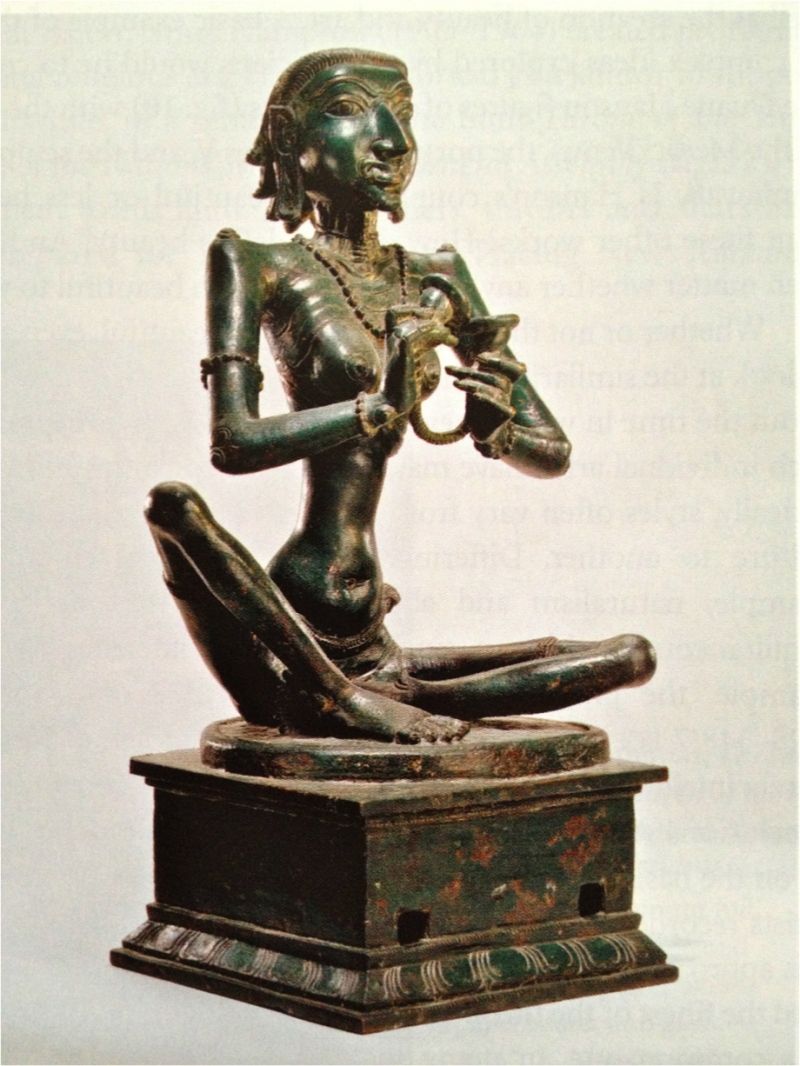 "Punitavati, Shiva Saint, c. 1050, bronze, 19 5/8"" x 8 7/8"", Nelson-Atkins Museum of Art, Kansas City, Missouri, Photo by Jacquelyn Mata, Creative Commons Attribution-ShareAlike 2.0 Generic License."