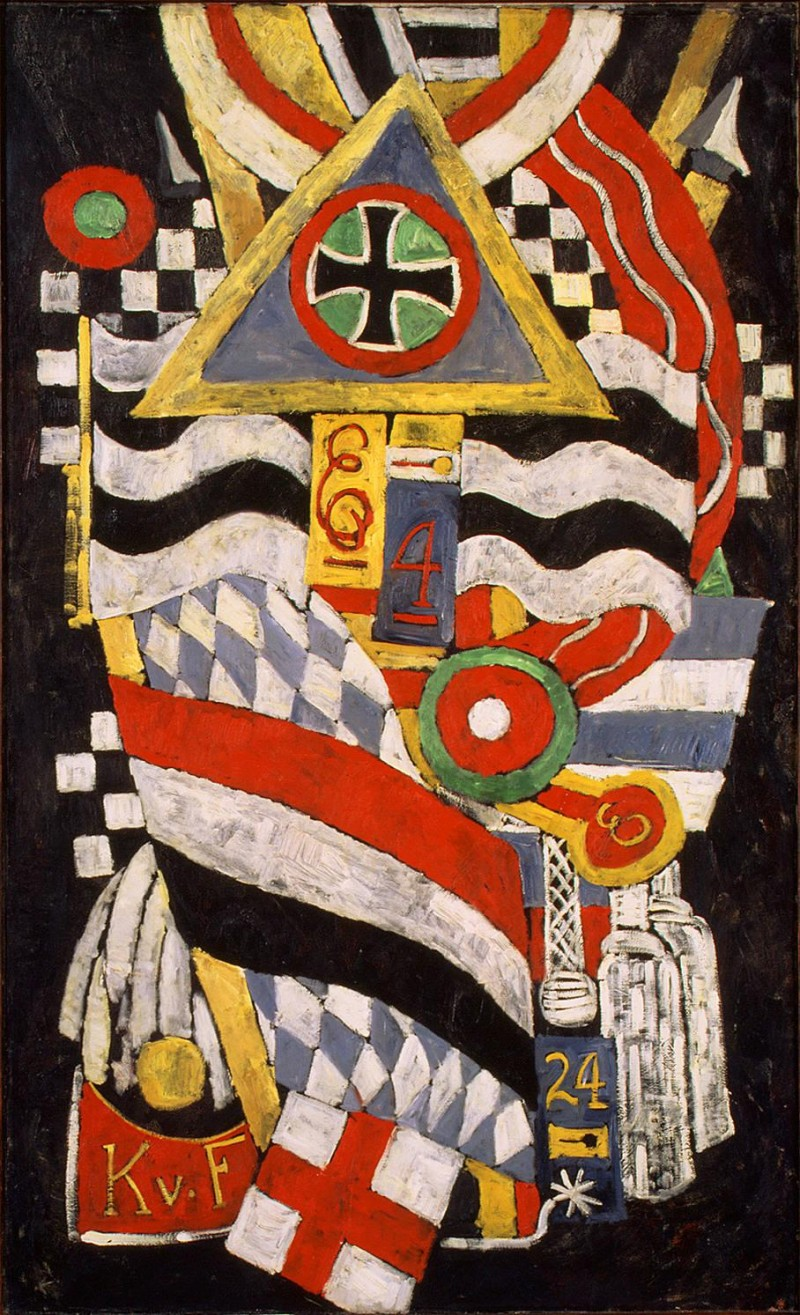 "Marsden Hartley, Portrait of a German Officer, 1914, oil on canvas, 68.25"" x 41.375"", Metropolitan Museum of Art, New York, Marsden Harley [Public Domain], via Wikimedia Commons."