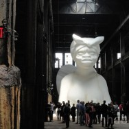 Kara Walker, A Subtlety: The Marvelous Sugar Baby, an Homage to the unpaid and overworked Artisans who have refined our Sweet tastes from the cane fields to the Kitchens of the New World, 2014, Domino sugar refinery, Brooklyn, Photo by Inhabitat Blog via Flickr, Creative Commons Attribution-NonCommercial-NoDerivs 2.0 Generic License.