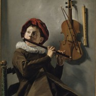 """Judith Leyster, Boy Playing a Flute, c. 1635, oil on canvas, 28.7"""" x 24.4"""", National Museum of Fine Arts, Stockholm, Public Domain via Wikimedia Commons."""