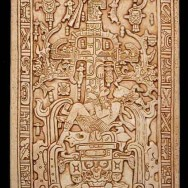 Sarcophagus Lid, Pakal Transitioning from Life to Death, c. 675 BCE, Temple of the Inscriptions, Palenque, Chiapas, Public Domain via Wikimedia Commons.