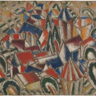 Fernand Léger, The Village, 1914, oil on canvas, 31 1/2 × 39 1/2 in., The Metropolitan Museum of Art, Leonard A. Lauder Cubist Collection, Purchase, Leonard A. Lauder Gift, 2013, Photo via The Metropolitan Museum of Art