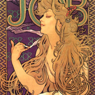 Alphonse Mucha, Advertising Poster for Job Cigarettes, Art Nouveau