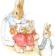Beatrix Potter, Peter Rabbit, watercolor on paper,