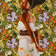 Kehinde Wiley, Shantavia Beale, c. 2012, oil on canvas, Photo by Garrett Ziegler via Flickr, Creative Commons Attribution-NonCommercial-NoDerivs 2.0 Generic License.