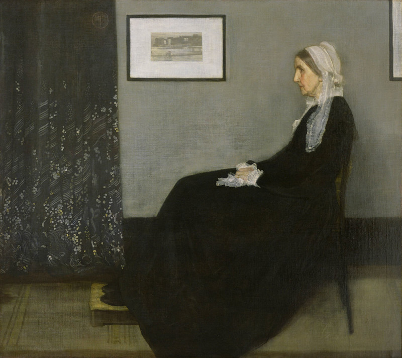 "James McNeill Whistler, Arrangement in Grey and Black, 1871, oil on canvas, 56.8"" x 63.9"", Musée d'Orsay, Paris, Artwork in the Public Domain, Photo from Wikipedia"