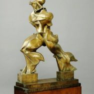 "Umberto Boccioni, Unique Forms of Continuity in Space, 1913, bronze, 3' 8"" x 2' 11"", Museum of Modern Art, New York, Artwork in the Public Domain, Photo via Wikimedia Commons."