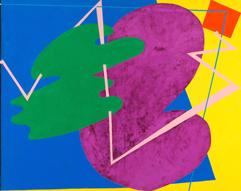 Elizabeth Murray, Children Meeting, 1978, Oil on canvas, 101 3/16 × 127 in., Whitney Museum of Art, NY, Photo by rocor via Flickr, Creative Commons Attribution-Non Commercial 2.0 Generic License.