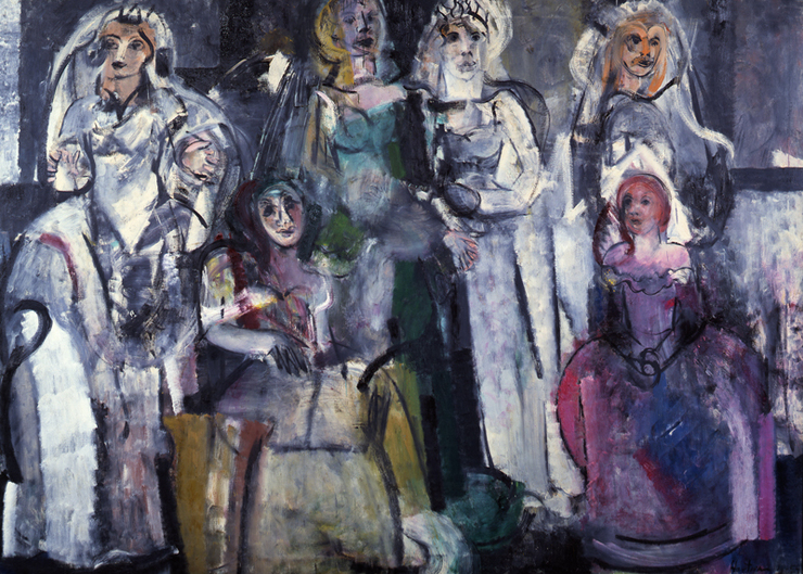 "Grace Hartigan, Grand Street Brides, 1954, oil on canvas, 73"" x 102"", Whitney Museum of American Art, New York."
