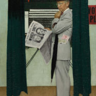 "Norman Rockwell, Which One?, 1944, oil on canvas, 37"" x 29"", Private Collection."