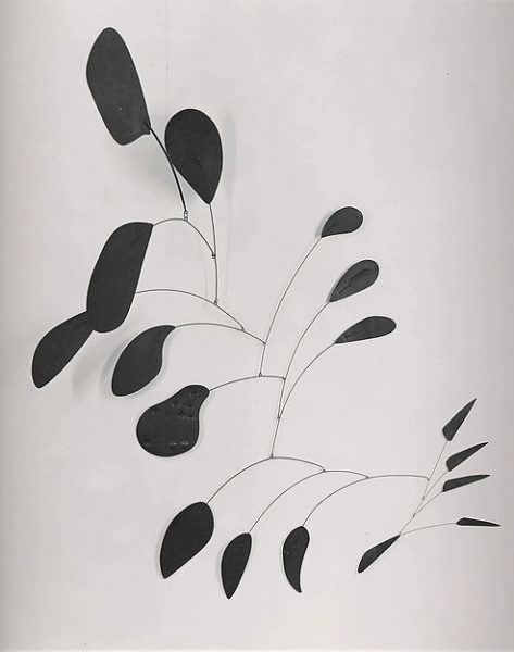 Alexander Calder, Mobile, 1941, 60 x 152 3/8in., Painted aluminum, steel, steel rod, and wire, The Metropolitan Museum of Art, New York, Photo courtesy of The Metropolitan Museum of Art
