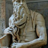 Michelangelo, Moses from the Tomb of Pope Julius II, 1512, San Pietro in Vincoli, Rome, Artwork in the Public Domain