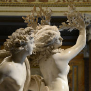 "Gian Lorenzo Bernini, 1622-25, Apollo and Daphne, Marble, 93"", Galleria Borghese, Rome, Photo by By Alvesgaspar, CC BY-SA 4.0."