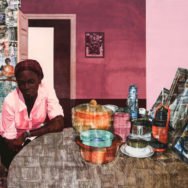 Njideka Akunyili Crosby, Mama, Mummy and Mamma (Predecessors #2), 2014, Photo by the New Church Museum, Cape Town, South Africa.