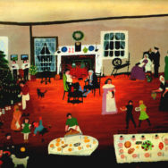 Grandma Moses, Christmas at Home, early 20th century, Photo via Wikiart.com