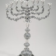 "Jan Pogorzelski, Hanukkah Converter Lamp, 1893, Silver, 26¾"" x 18"" x 8¼"", Jewish Museum, New York, Photo courtesy of the Jewish Museum"