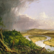 "Thomas Cole, The Oxbow (The Connecticut River near Northampton), 1836, Oil on canvas, 51½"" x 76"", The Metropolitan Museum of Art, New York, Artwork in the Public Domain."